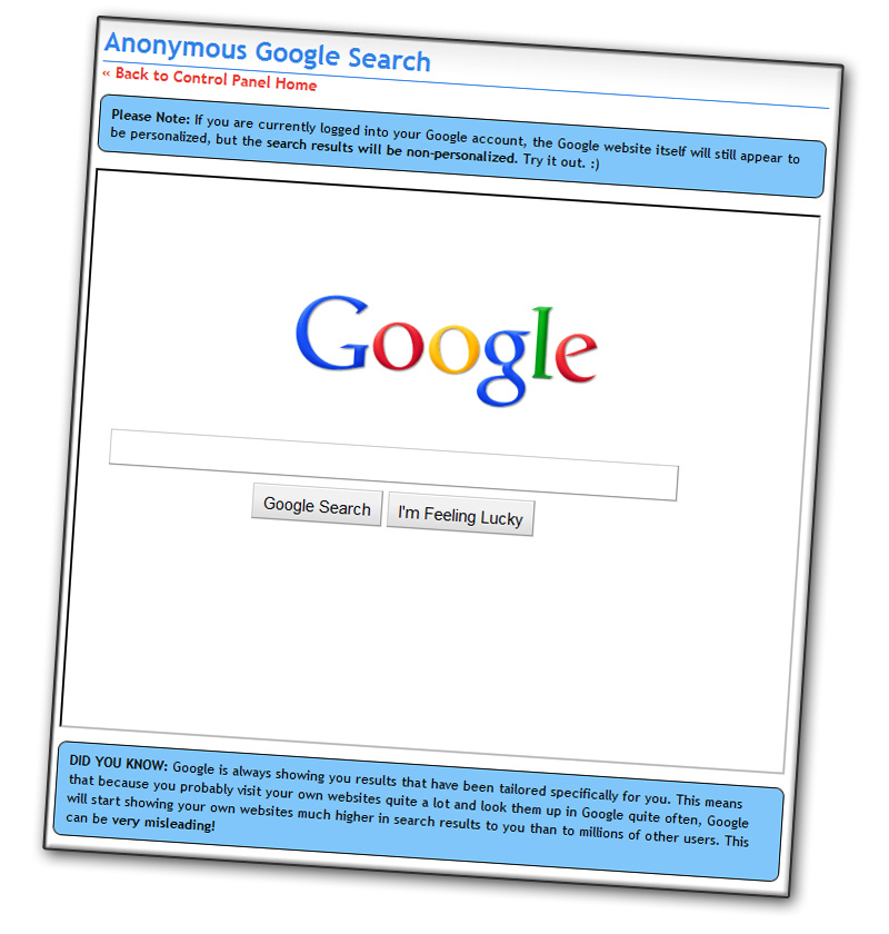 Search Google anonymously while staying logged in to your ...